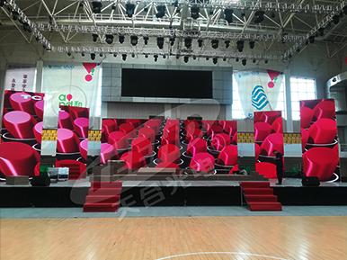 青海民族大学 / P3.91室内高清显示屏