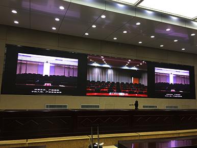 连云港灌南京县县政府 / P1.923小间距显示屏