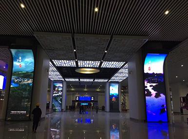 杭州千岛湖高铁站  /  P2.5室内高清显示屏