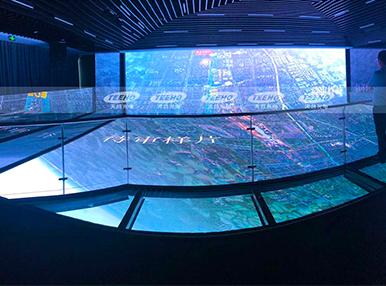 江苏.常州高铁新城规划馆 /  P2室内高清显示屏